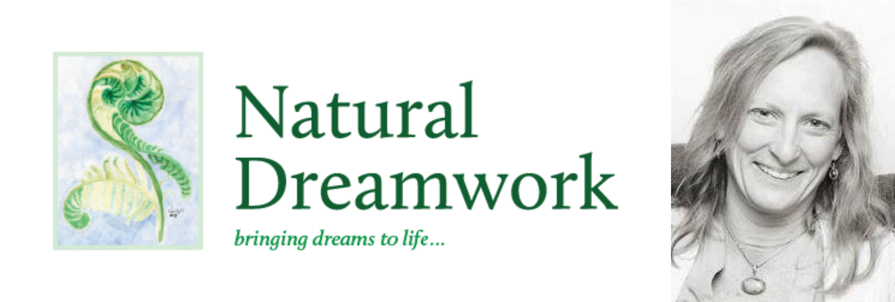 natural dreamwork primary logo color side